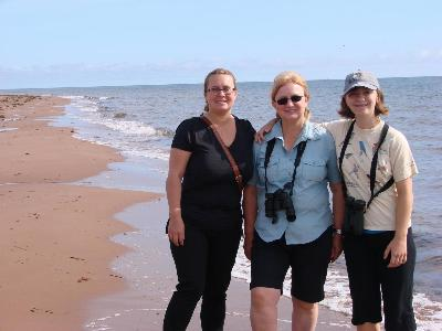 Olga, Nina and Tessa on the shores of PEI