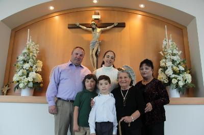 Little Nana with great grandson Simon & family at his Baptism