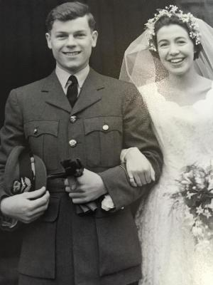 Mike and Jennifer wedding photo - Guildford Feb 7th, 1957